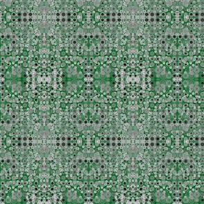 Dancing Dots and Spots of Grey on Grape Leaf Green
