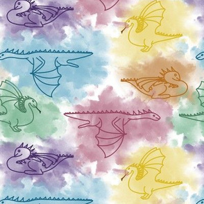 Watercolor Dragons