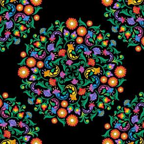 Folk Art Mandala Extra Large
