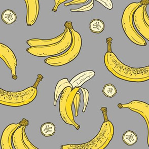 Bananas Summer Fruits on Dark Grey