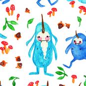 Watercolor Yetis