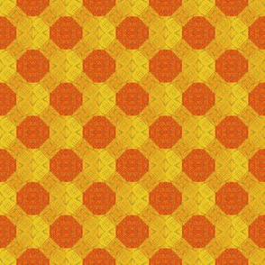 Flame and orange dots
