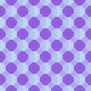 Lavender and blue dots