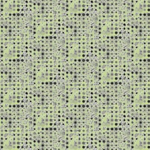 Dots and Spots of Grey Smudged on Cool Spring Green