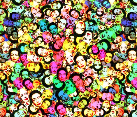 Feud - Bette Davis & Joan Crawford fabric by hollywood_royalty on Spoonflower - custom fabric