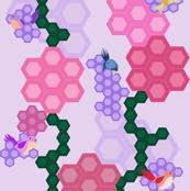 Birdies and Hexagon Flora
