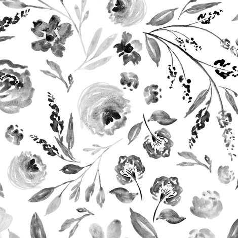 Indy Bloom Design farm house florals C fabric by indybloomdesign on Spoonflower - custom fabric
