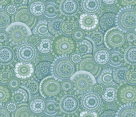 Flower Power (watery) fabric by seesawboomerang on Spoonflower - custom fabric