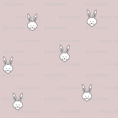 Pink Bunny Faces