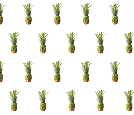 Watercolor Pineapples fabric by twix on Spoonflower - custom fabric
