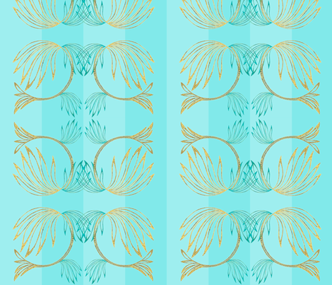 Winged Flower fabric by sadulskyart on Spoonflower - custom fabric