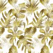 tropical Leaves gold