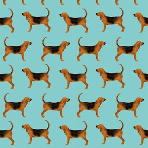 bloodhound fabric simple dog design - blue tint