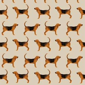bloodhound fabric simple dog design - sand