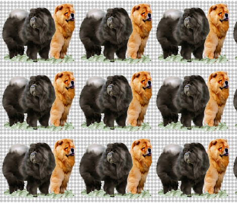 Red and Black Chows fabric by dogdaze_ on Spoonflower - custom fabric