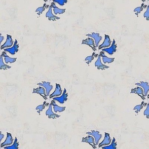 Tea Towel Flora (Blue)