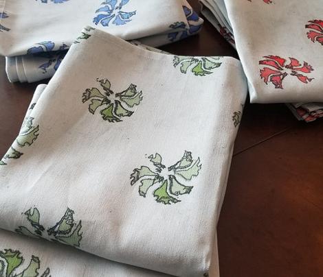 Tea Towel Flora (Green)