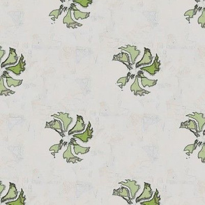 Tea Towel Flora (Green)