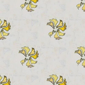 Tea Towel Flora (Yellow)