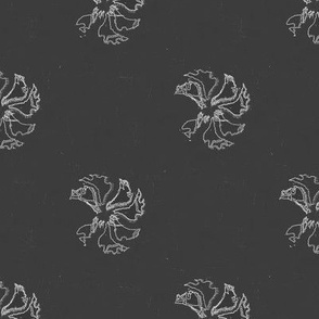 Tea Towel Flora (Black)