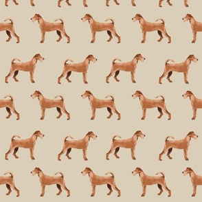 irish terrier fabric dog fabric - sand