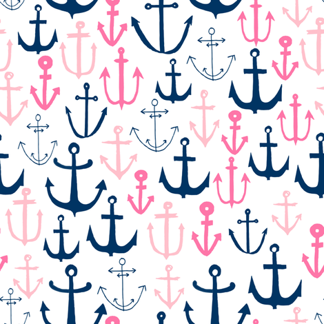 Anchor fabric nautical ocean fabric nursery baby design for Nautical nursery fabric