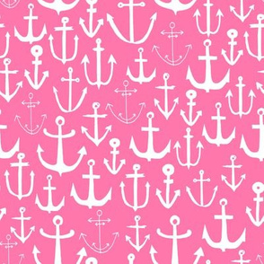 anchor fabric // nautical ocean fabric nursery baby design - pink