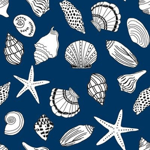 shells fabric // seashell summer beach fabric summer fabric baby nursery