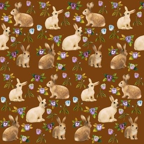 Bunnies in the Garden, Autumn Brown