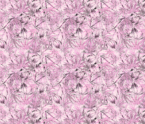 Pink Camomoto Leaves  fabric by camomoto on Spoonflower - custom fabric