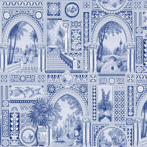 Aesthetic Grand Tour ~ Willow Ware Blue and White