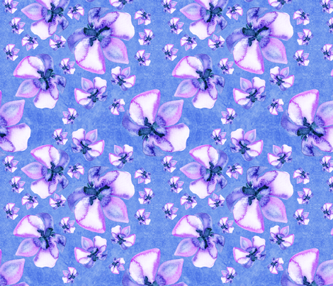 Scattered Orchids - Watercolor fabric by serendipitymuse on Spoonflower - custom fabric