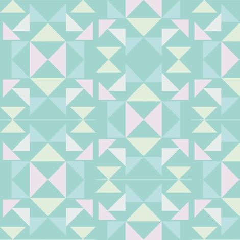 scandinavian mosaic mint fabric by arrpdesign on Spoonflower - custom fabric