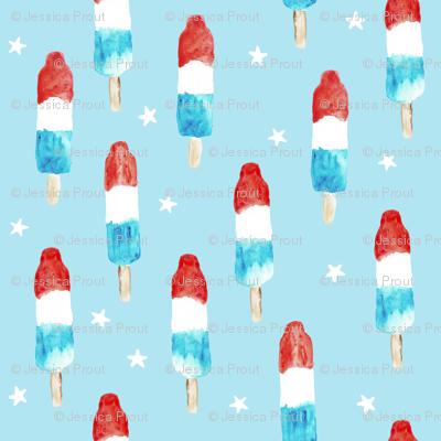 (micro print) bomb pops with stars