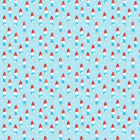 (micro print) bomb pops with stars fabric by littlearrowdesign on Spoonflower - custom fabric