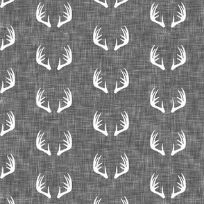 (small scale) antlers on linen