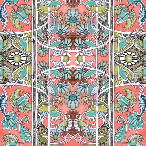Scarab Garden fabric by edsel2084 on Spoonflower - custom fabric