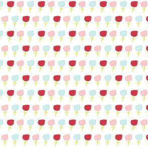 sweet summer poppies Medium -  cotton candy