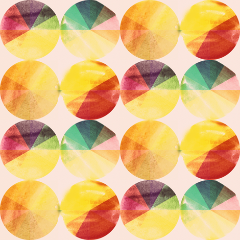Watery Color Wheels fabric by boris_thumbkin on Spoonflower - custom fabric