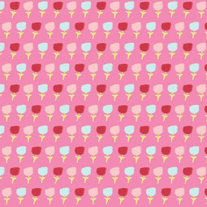 sweet summer poppies Medium -  cotton candy berry  pink