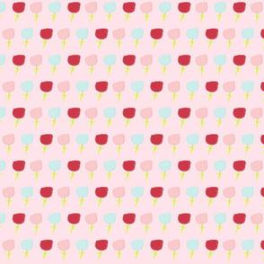 sweet summer poppies Medium -  cotton candy pink