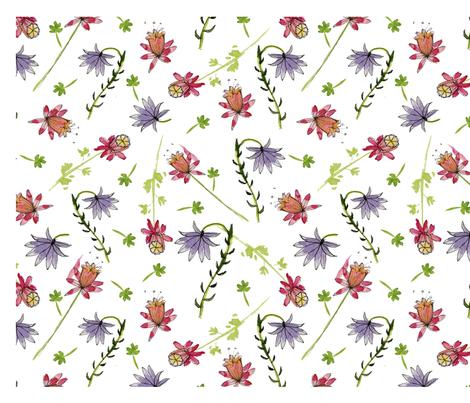 Columbine fabric by backyarddesigner on Spoonflower - custom fabric