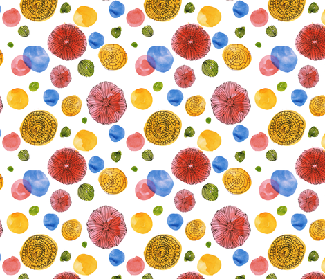 Primary Circles fabric by backyarddesigner on Spoonflower - custom fabric