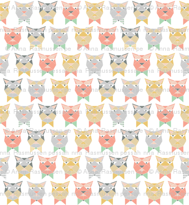 bored cats in bowties