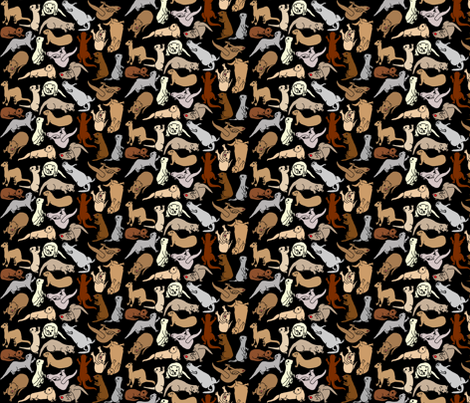 Calico_black fabric by deva_kolb on Spoonflower - custom fabric