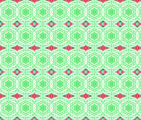 Rolling Hexagon Waves fabric by rhondadesigns on Spoonflower - custom fabric