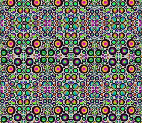 Spotting Dotty Party Lights on Pastel Mottle- Medium Scale fabric by rhondadesigns on Spoonflower - custom fabric
