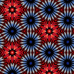 red blue flowers