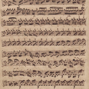 Bach's handwritten sheet music - Preludio - BWV1006