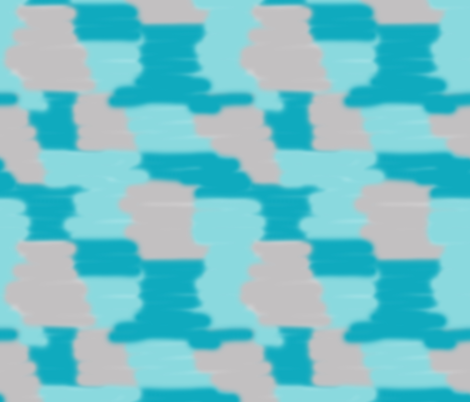 Turquoise Teal Blue Grey Gray Camo Abstract Modern Art fabric by decamp_studios on Spoonflower - custom fabric